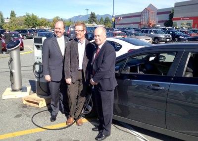 FBC Executive Director David Marshall, BC Minister of Environment Terry Lake and Coquitlam-Burke Mountain MLA Doug Horne